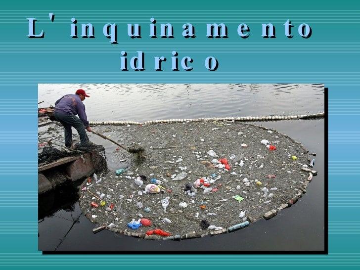 L' inquinamento idrico