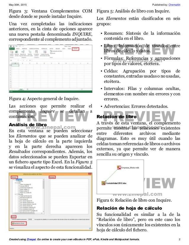 Inquire para Excel 2013 Slide 2