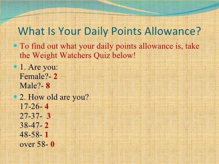 How do i figure out weight watcher points