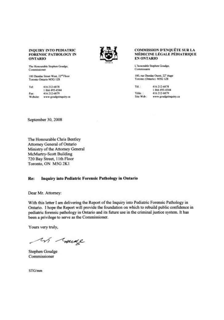 Inquiry into Pediatric ForensicPathology in Ontario