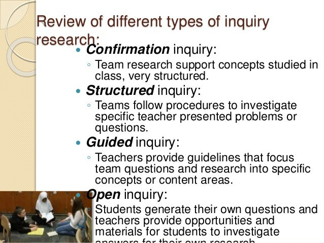 methods of enquiry How has inquiry-based learning developed since it first became popular  an  inquiry approach can help students connect science with the scientific method.