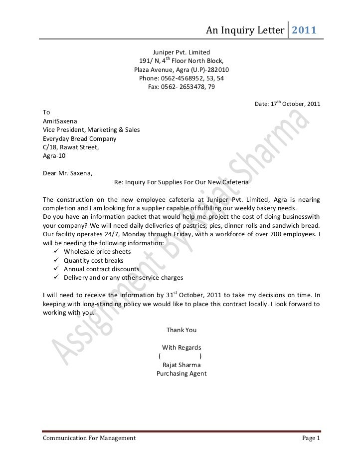 inquiry letter format thevictorianparlorco – Example of Inquiry Letter for Product
