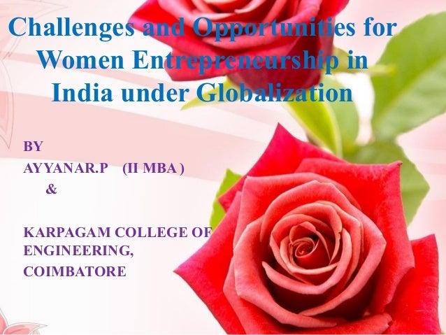 women entrepreneurship challenges opportunities Women entrepreneurs in the gambia: challenges and opportunities women entrepreneurs in the gambia: challenges the challenges facing women entrepreneurs in.