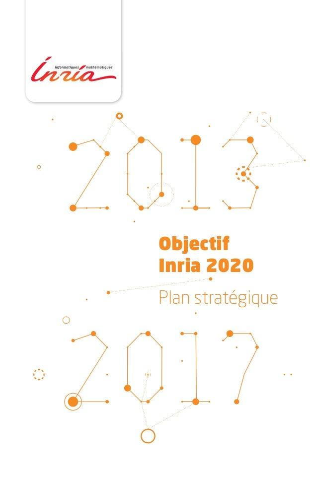 ObjectifInria 2020Plan stratégique