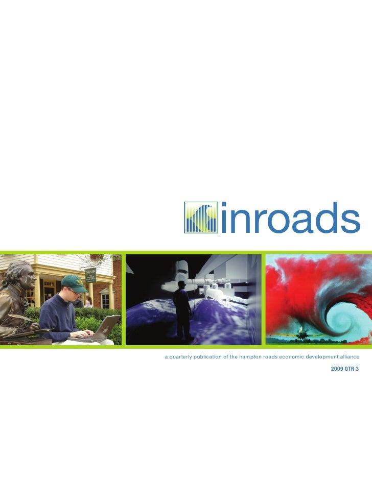 inroads  a quarterly publication of the hampton roads economic development alliance                                       ...