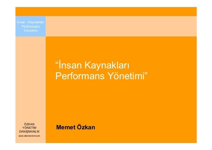 "Đnsan Kaynakları   Performans    Yönetimi                    ""Đnsan Kaynakları                    Performans Yönetimi""    ..."