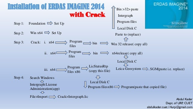 Insatallation process of ERDAS IMAGINE 2014 with Crack