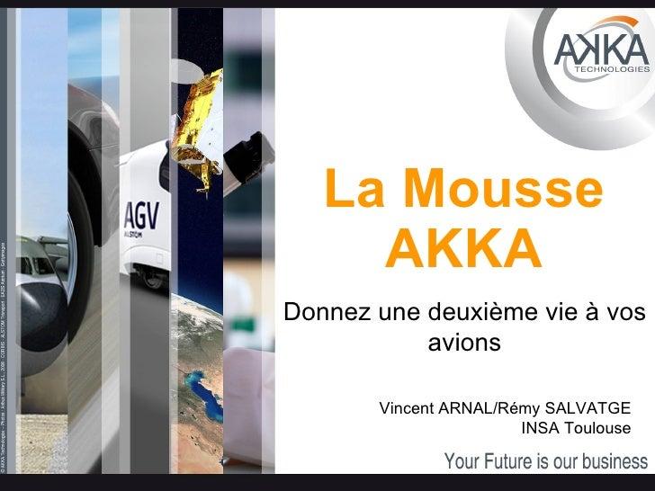 La Mousse AKKA Donnez une deuxième vie à vos avions Vincent ARNAL/Rémy SALVATGE INSA Toulouse