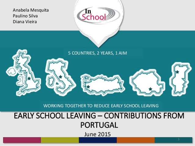 WORKING TOGETHER TO REDUCE EARLY SCHOOL LEAVING 5 COUNTRIES, 2 YEARS, 1 AIM EARLY SCHOOL LEAVING – CONTRIBUTIONS FROM PORT...