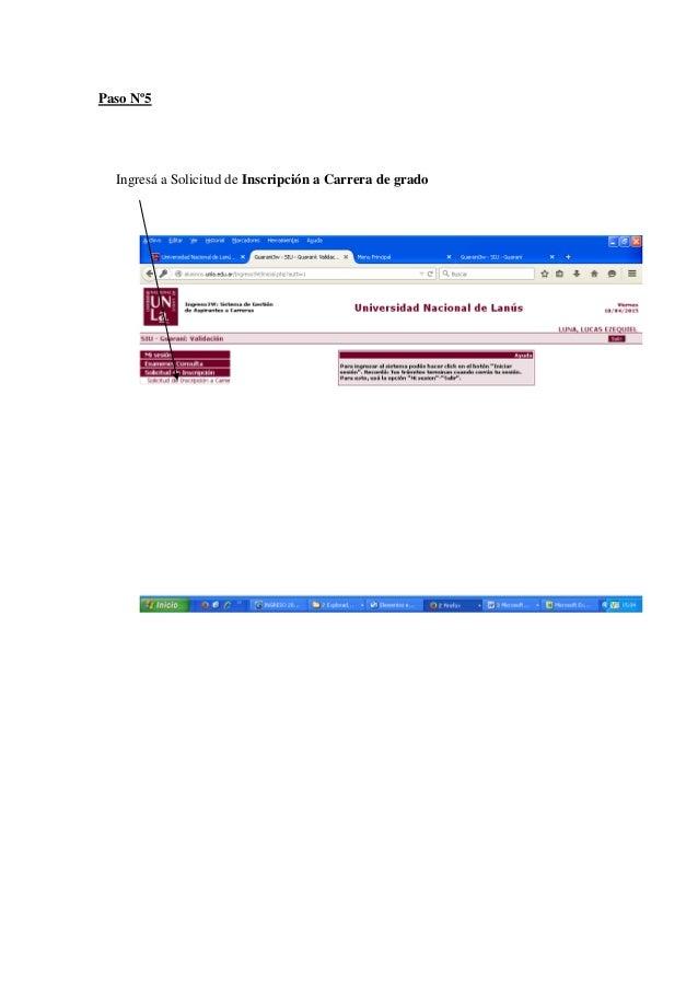 Inscripci n a carrera de grado instructivo for Carreras de grado