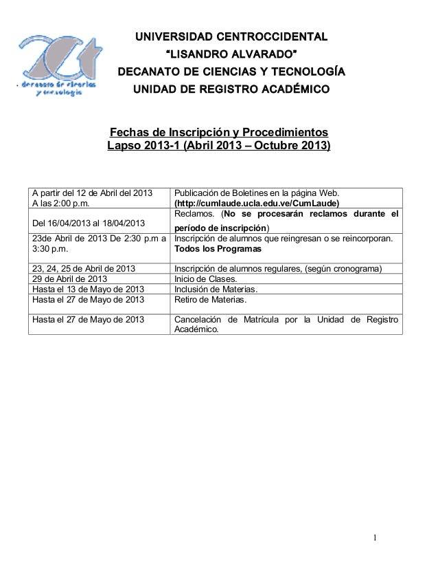 """UNIVERSIDAD CENTROCCIDENTAL                                    """"LISANDRO ALVARADO""""                       DECANATO DE CIENC..."""