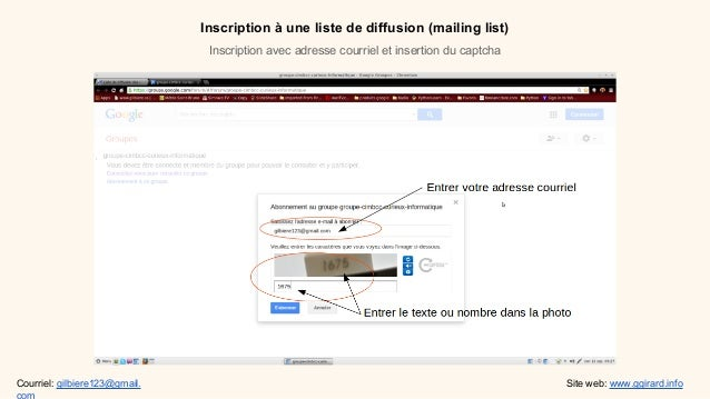 Inscription une liste de diffusion for Liste de diffusion