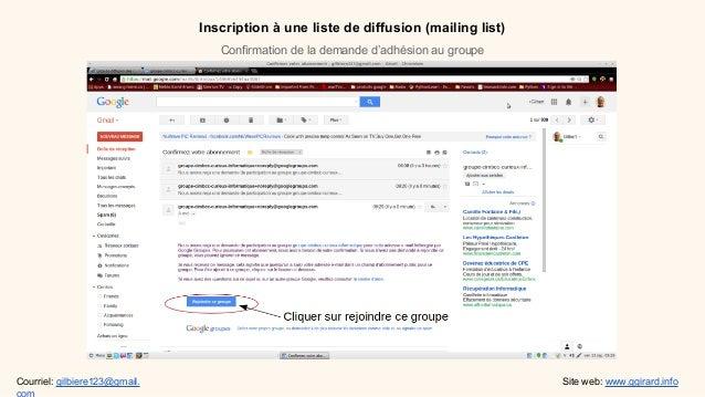 Inscription une liste de diffusion for Inscription d et co