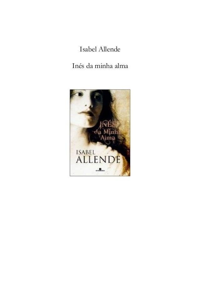 Isabel Allende Inés da minha alma