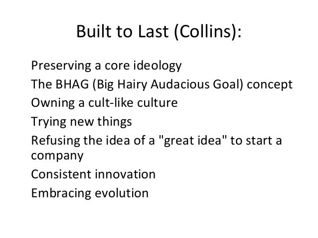 understanding the idea behind the big hairy audacious goals bhags A bhad defined is a big, hairy, audacious goal: b-h-a-g in a bhag, there are two things to remember number #1 – according to wikipedia, the term bhag was coined by jim collins in his article, building your company's vision.