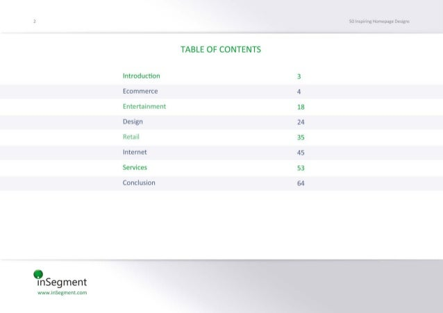 InSegment wwwJnSecmemmm  lntroductbn Ecommerce Enteminment Design  Retall  Internet  Servite;   Conclusion  TABLE 0F CONTE...
