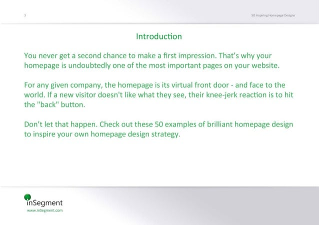 Smàséirvnx-Huméme 06st»:   Introduction  You never get a second chance to make a first impression.  That's why your homepag...