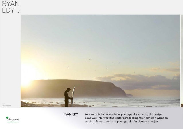 RYAN EDY J  amerai!   agi 1  RYAN EDY As a website for professional photography services,  the design plays well into what...
