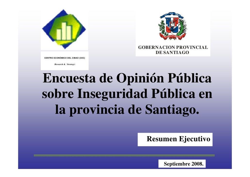 GOBERNACION PROVINCIAL                                                        DE SANTIAGO      CENTRO ECONÓMICO DEL CIBAO ...