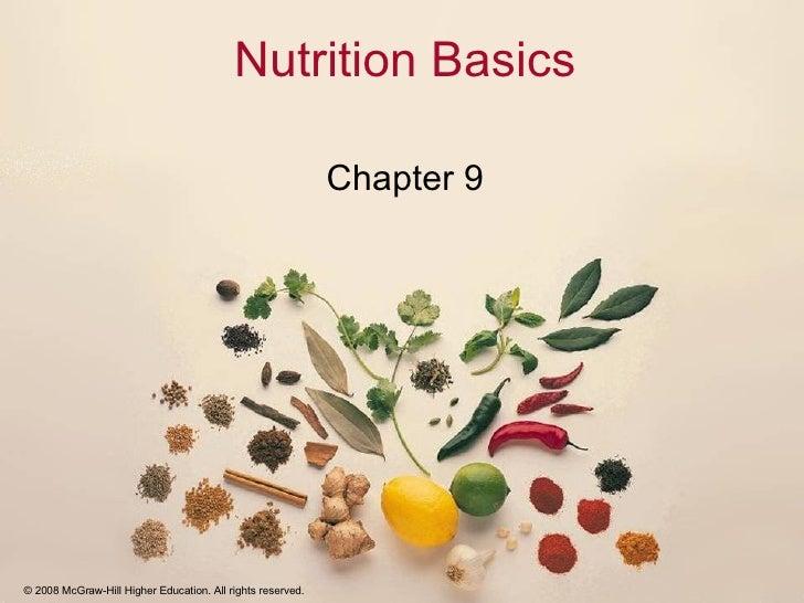 Nutrition Basics Chapter 9