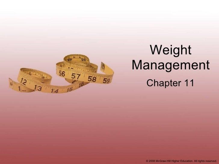 Weight Management Chapter 11
