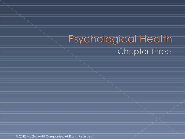 Health and Wellness Chapter 3