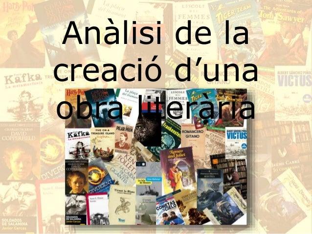 Anàlisi de la creació d'una obra literària