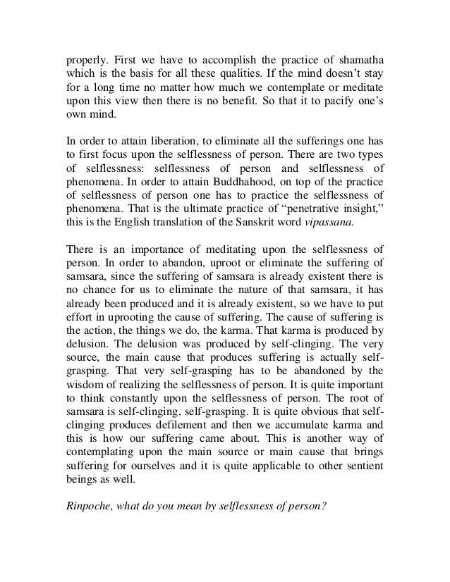 Inseperability of samsara and nirvana Slide 3