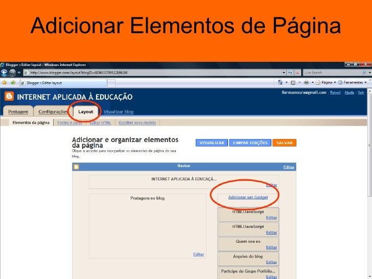 Adicionar Elementos de Página