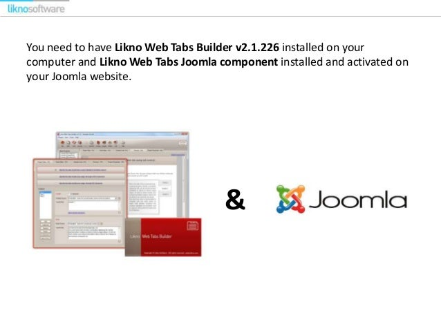 How to insert jQuery Tabs by Likno Software to your Joomla 3 x website