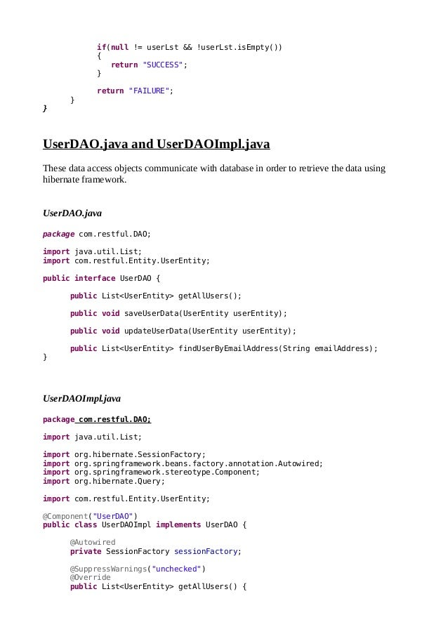 Spring Mvc Crud Example With Hibernate Annotations