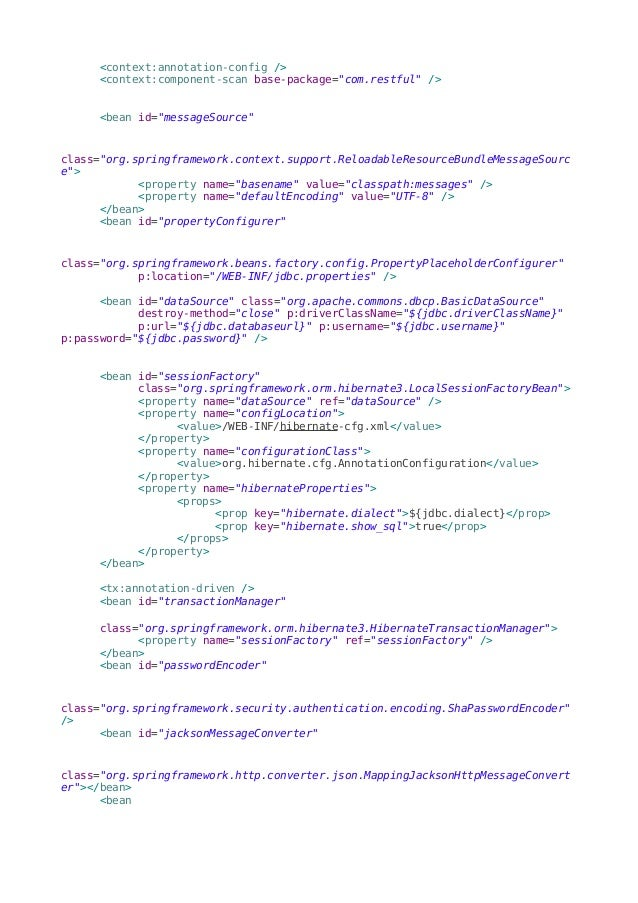 Spring RestFul Web Services - CRUD Operations Example