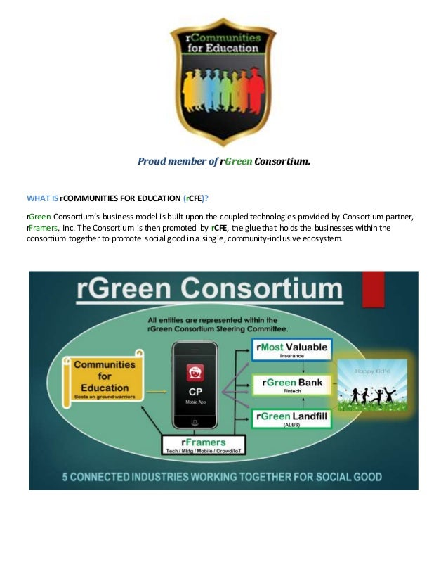 Proud member of rGreen Consortium. WHAT IS rCOMMUNITIES FOR EDUCATION (rCFE)? rGreen Consortium's business model is built ...