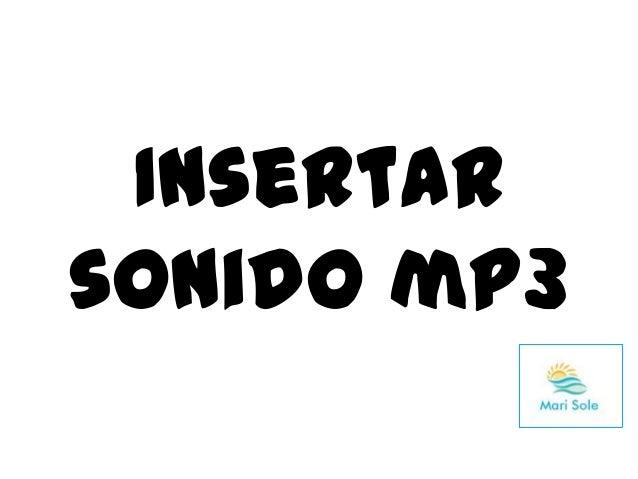 Insertar sonido mp3