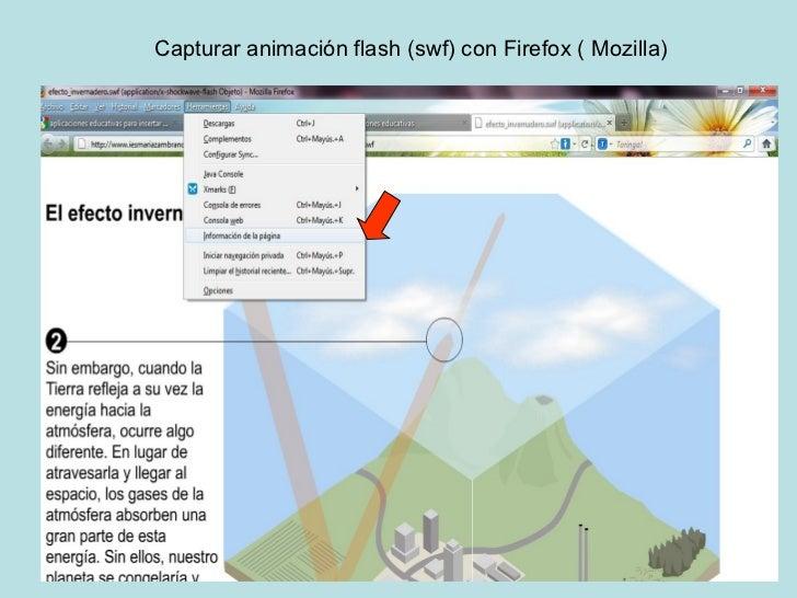 Capturar animación flash (swf) con Firefox ( Mozilla)