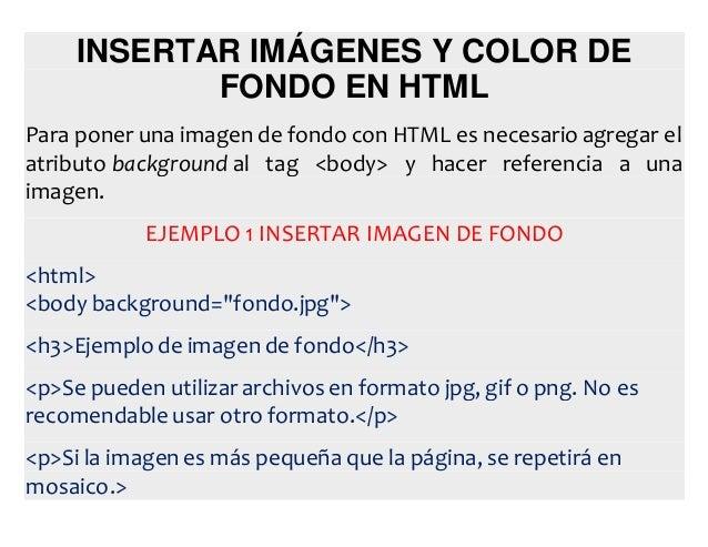 Como poner fondo en un html