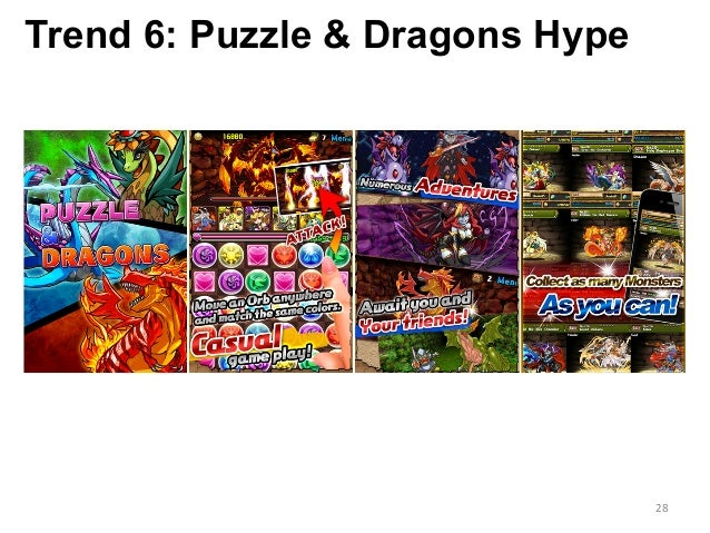 Trend 6: Puzzle & Dragons Hype 28