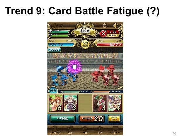 Trend 9: Card Battle Fatigue (?) 40
