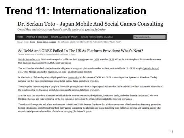 Trend 11: Internationalization 43