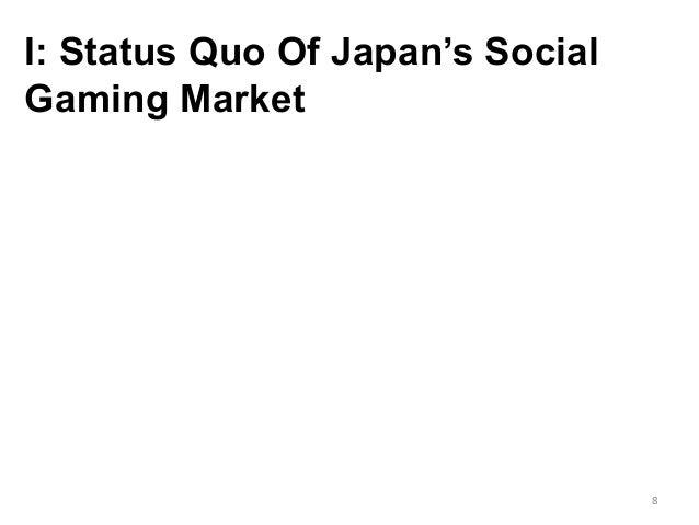 I: Status Quo Of Japan's Social Gaming Market 8