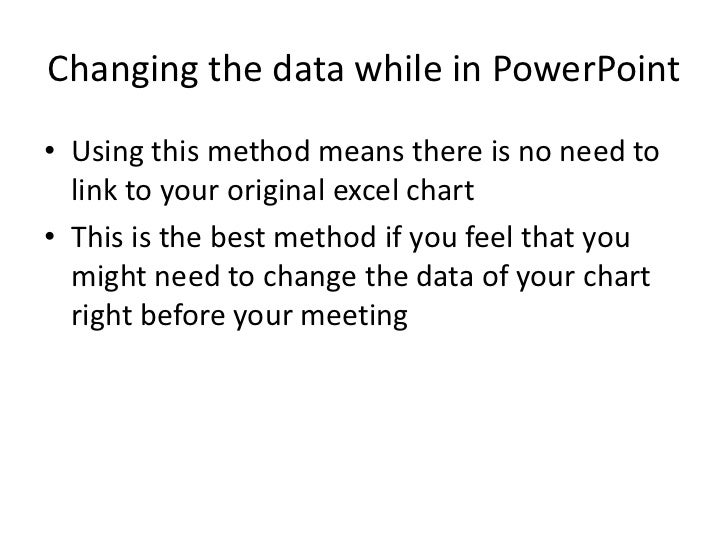 embed excel in powerpoint