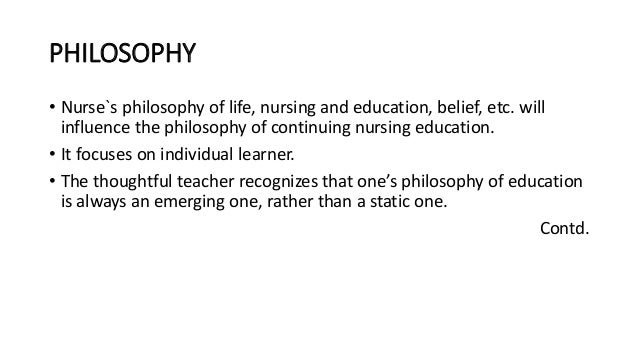 The influence of philosophy on knowledge development in nursing Essay Sample