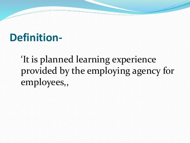 In service education