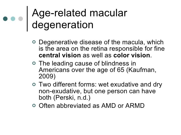 Inservice Presentation Age Related Macular Degeneration