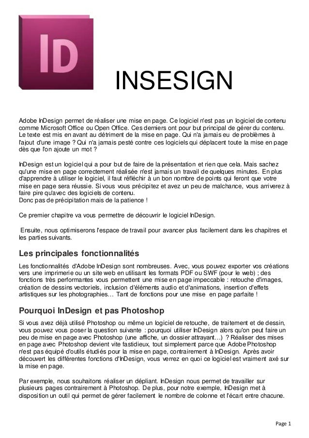 Indesign Cours