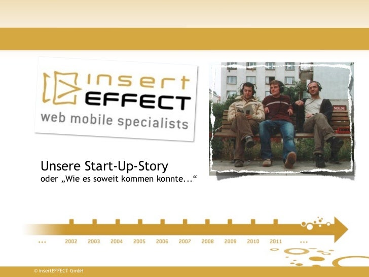 """Unsere Start-Up-Story  oder """"Wie es soweit kommen konnte...""""© insertEFFECT GmbH"""