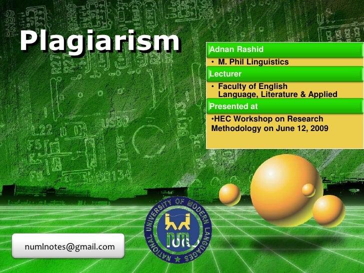 Plagiarism <br />numlnotes@gmail.com<br />