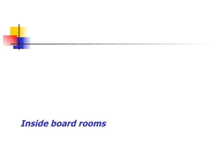Inside board rooms