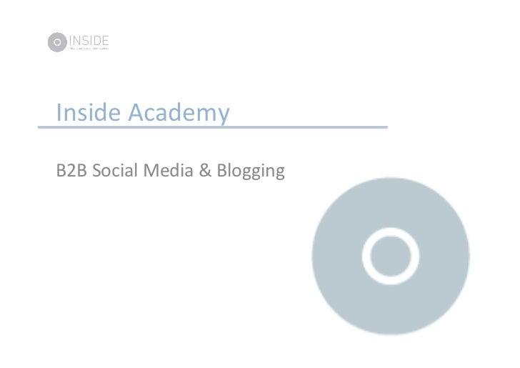Inside Academy   B2B Social Media & Blogging