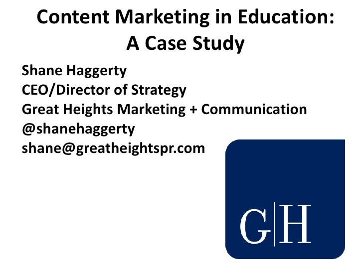 education advertising circumstance study